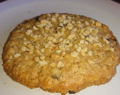 Almond and chocolate chip cookie.
