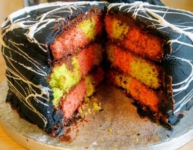 A rainbow cake!