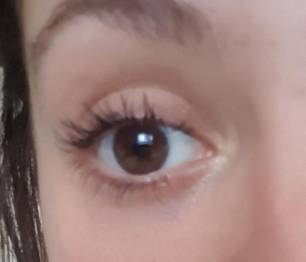 My sister's eye with mascara